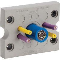 Kabelová průchodková lišta Icotek KEL-DPZ-B25 (43798), IP66, 72,8 x 58 mm, šedá
