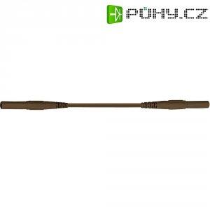 Měřicí kabel banánek 4 mm ⇔ banánek 4 mm MultiContact XMF-419, 1 m, hnědá