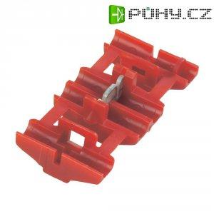 Zářezová svorka TE Connectivity, 735410, 0,5 - 0,75 mm², 2pólová, červená