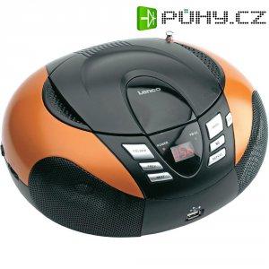 Rádio s CD přehrávačem Lenco SCD-37 USB/MP3, oranžová