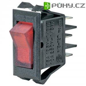 Kolébkový spínač SCI R13-72B-01 s aretací 250 V/AC, 10 A, 1x vyp/zap, černá, zelená, 1 ks