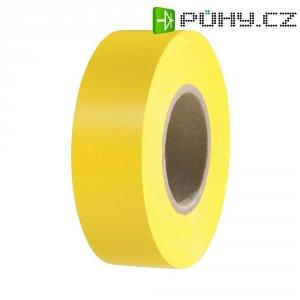 Izolační páska HellermannTyton HelaTapeFlex 15, 710-00124, 19 mm x 25 m, žlutá