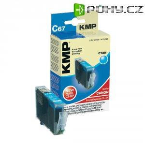 Cartridge KMP C67 = CANON CLI-8, 1505,0003, cyanová
