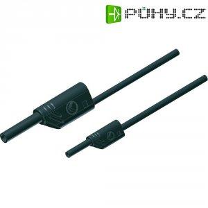 Měřicí kabel banánek 4 mm ⇔ banánek 2 mm SKS Hirschmann MAL S WS 2-4 100/1, 1 m, černá