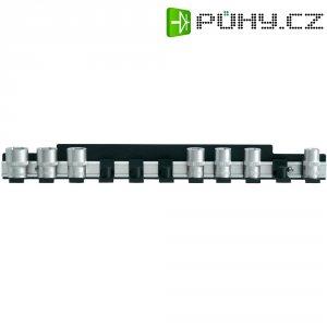 Hliníková lišta pro uložení nástrčných klíčů 12,5 mm, 435mm x 48 mm