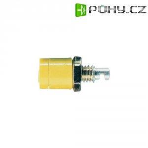 Labor. konektor Ø 2 mm Schnepp BU 2400, zásuvka vest. vert., žlutá