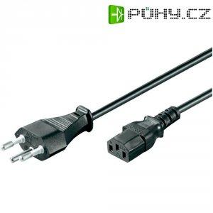 Síťový kabel Goobay, 93617, zástrčka (Švýcarsko)  IEC zásuvka, 2 m, černá