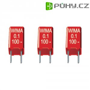 Foliový kondenzátor MKS Wima, MKS2, 0,22 µF, 250 V/DC, 20 %, 7,2 x 5,5 x 11,5 mm