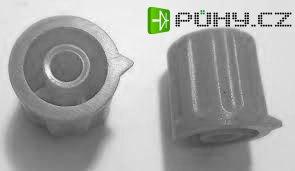 Přístrojový knoflík KP1404, 14x15mm, hřídel 4mm, šedý