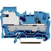 Oddělovací svorka Wago 2006-7114, pružinová, 7,5 mm, modrá