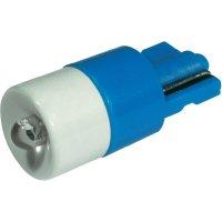 LED žárovka W2.1x9.5d CML, 1511B25B3, 12 V, 650 mcd, modrá