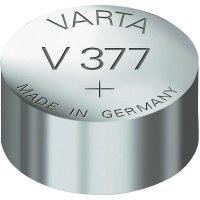 Knoflíková baterie 377, Varta SR66, na bázi oxidu stříbra, 377101401