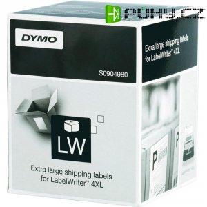 Páska do štítkovače Dymo LW, S0904980, bílá/černá, 104 x 159 mm, 220 ks
