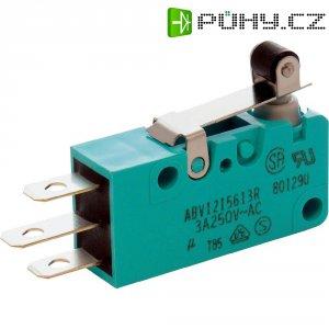 Mikrospínač s rolnou Panasonic, ABV1215603R, 250 V/AC, 30 V/DC, 3 A