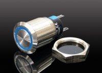 Tlačítko OFF-(ON) LA19-AJS 250V/5A,modré prosvětlení