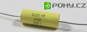 220n/630V TGL43199 svitkový kondenzátor axiální