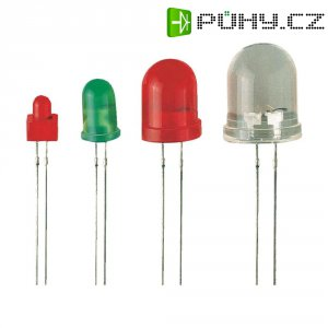 LED dioda kulatá s vývody Kingbright BLINK LED ROT L56, L-56BHD, 5 mm, červená, L 56 BHD ČER