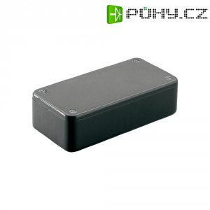 Euro pouzdro Hammond Electronics, (d x š x v) 121,44 x 66,94 x 37,25 mm, černá