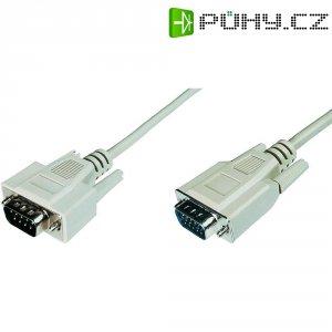 Kabel VGA vidlice ⇔ vidlice, 3 m, šedý