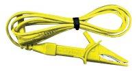 Šňůra měřicí - krokosvorka/ 120cm (CAT II) žlutá