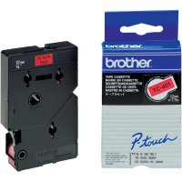 Páska do štítkovače Brother TC-401, 12 mm, TC, 7,7 m, černá/červená