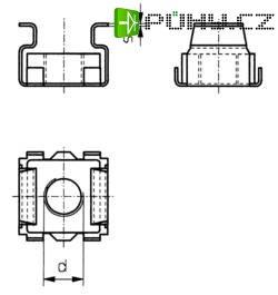 Klecové matice Toolcraft, M6, ocel, 10 ks