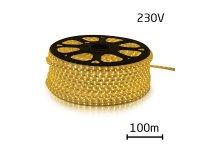 LED pásek 230V, 3528 60LED/m IP67 max. 4.8W/m bílá teplá (cívka 100m) zalitý