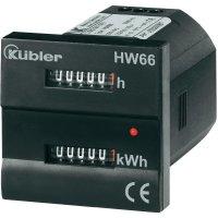 Čítač provozních hodin a elektroměr Kübler HW66, 230 V/AC, 50 Hz - 60 Hz