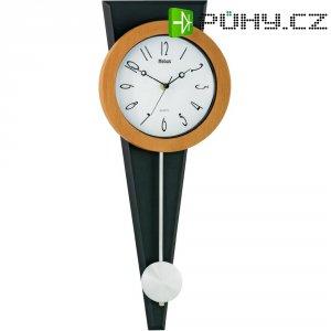 Quarz kyvadlové hodiny - pendlovky, 21 x 53,5 cm, černá/přírodní