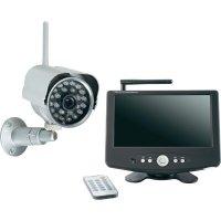"""Bezdrátová kamera + monitor s DVR Renkforce, 2, 4 GHz, IR LED, 7\"""" LCD"""