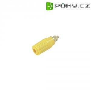 Pólová svorka SKS Hirschmann PKI 100 (930757103), (Ø x d) 15 x 41,5 mm, žlutá