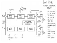 AN7147N - nf zesilovač 2x5,5W, SIP12