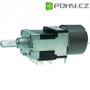 Motorizovaný potenciometr prachotěsný Stereo 0.05 W 10 kOhm ALPS RK16816MG 10KDX6 1 ks