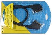 Kabel Scart-Scart 75cm HiFi plast 2x stínění DOPRODEJ