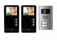 MOVETO 541035 Barevný dveřní videotelefon pro 2 bytové jednotky 2V-035