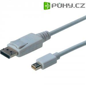 Kabel DisplayPort vidlice ⇔ vidlice mini DisplayPort, 1 m, bílý