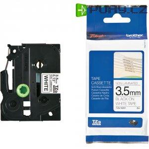Páska do štítkovače Brother TZe-N201, 3,5 mm, 8 m, barva pásky: bílá, barva písma: černá