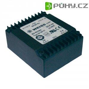 Plochý transformátor Weiss UI 39, 2x 115 V/2x 9 V, 2x 1333 mA, 24 VA