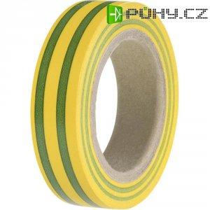 Izolační páska HellermannTyton HelaTapeFlex 15, 710-00106, 15 mm x 10 m, žlutozelená