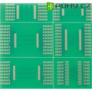 SMD multiadaptér TSOP I / TSOP I / TSOP II, 72,6 x 76,2 mm, epoxyd