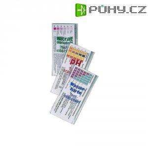 Proužky k testování pH, tvrdosti vody a obsahu dusičnanů