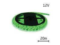 LED pásek 12V 3528 60LED/m IP65 max. 4.8W/m zelená (cívka 20m) zalitý