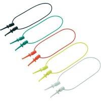 Sada měřicích kabelů svorka s háčkem ⇔ svorka s háčkem Voltcraft, 40 mm, 10 ks