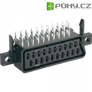 SCART konektor BKL 903013, zásuvka vestavná horizontální, 21pól., černá