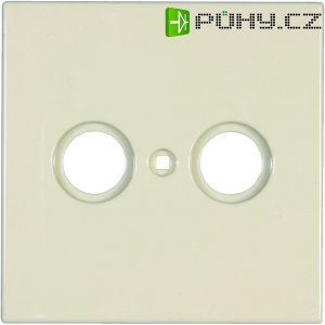 Kryt pro anténní zásuvky Jung, LS 990 TV, rádio/TV, krémově bílá