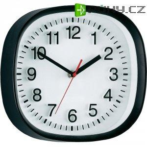 Analogové nástěnné quarz 3D hodiny, 22,4 x 22,4 cm, černá