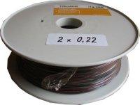 Kabel 2x0,22mm2 24AWG červeno-černý, cívka 100m