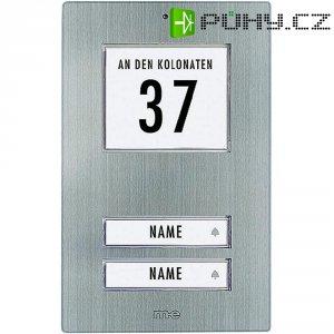 Zvonková deska M-e GmbH KT 2-EG, 2 tlačítka, max. 12 V/1 A , nerez