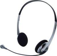 Headset k PC TW-218, černá/stříbrná