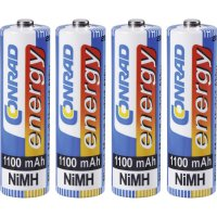 Akumulátor Conrad energy, NiMH, AA, 1100 mAh, 4 ks